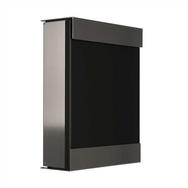 glasnost Briefkasten mit beschichteter Edelstahlfront color.black