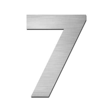 Hausnummer Klein 7 Edelstahl V4A selbstklebend