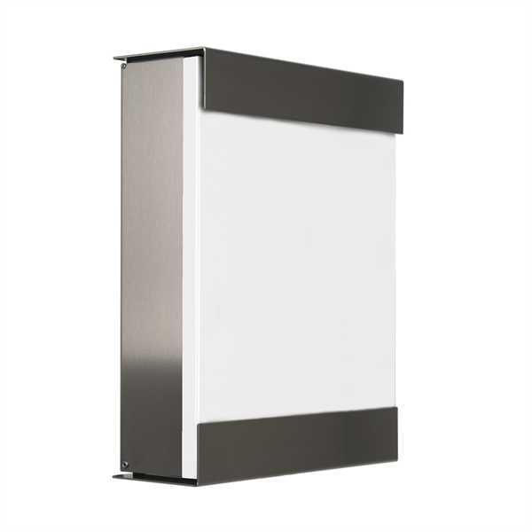 glasnost Briefkasten mit beschichteter Edelstahlfront color.white