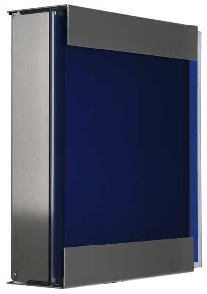 glasnost Briefkasten mit bedruckter Glasfront glass.blue