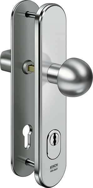 Stahl-Schutzbeschlag S416 Rundknauf/Drücker