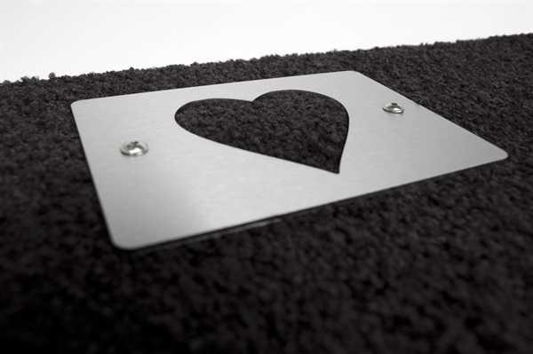Schuhabstreifer mit Edelstahldetail heart