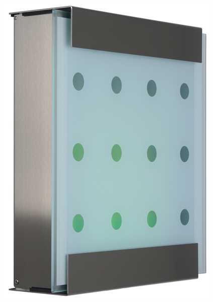 glasnost Briefkasten mit bedruckter Glasfront glass.dots