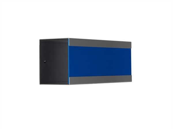 glasnost Zeitungsbox mit beschichteter Edelstahlfront newsbox.color.blue