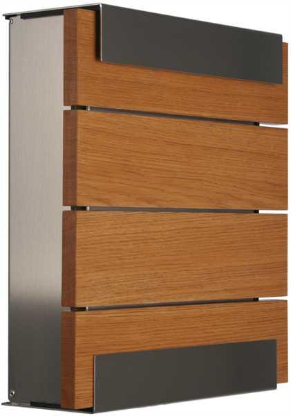 glasnost Briefkasten mit Holzfront wood.oak