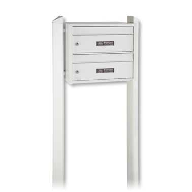 Briefkastenanlage Dual-Front 82101 Weiß