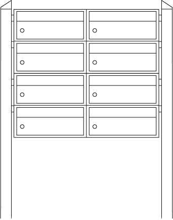 Briefkastenanlage Dual-Front 82104 Weiß
