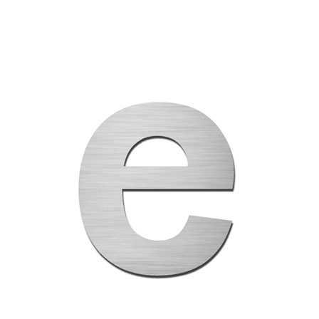Hausnummer e Edelstahl V4A zum Einschlagen
