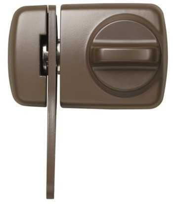 ABUS Türzusatzschloss 7530 EK mit Zylinder Braun