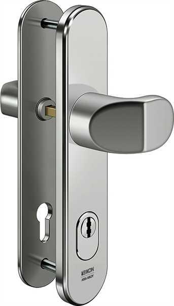Stahl-Schutzbeschlag S418 Winkelknauf/Drücker