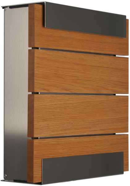 glasnost Zeitungsbox mit Holzfront newsbox.wood.oak