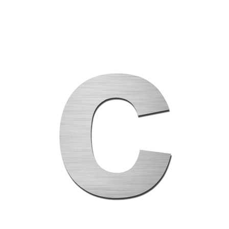 Hausnummer c Edelstahl V4A zum Einschlagen