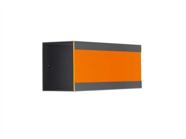 glasnost Zeitungsbox mit beschichteter Edelstahlfront newsbox.color.orange