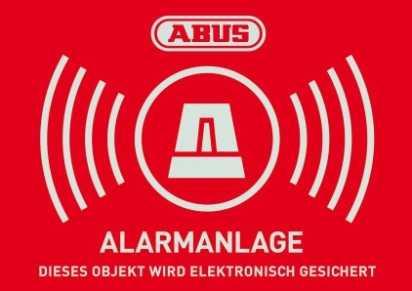 Warn-Aufkleber Alarm 74x52,5 mm