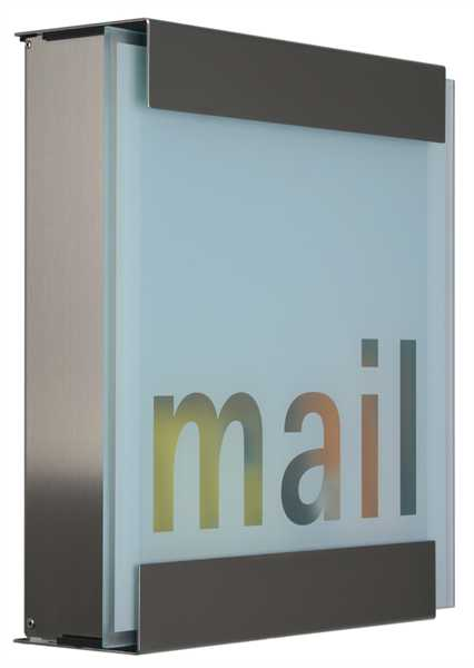 glasnost Briefkasten mit bedruckter Glasfront glass.mail