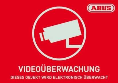 Warn-Aufkleber Video 74x52,5 mm