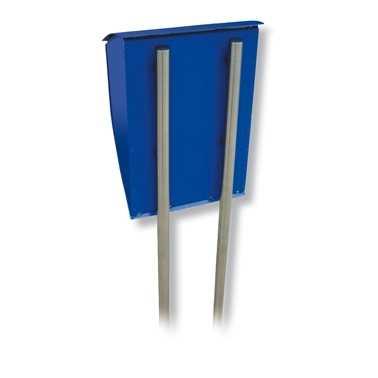 Briefkasten-Ständer Universal 150 Silber