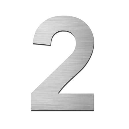 Hausnummer 2 Edelstahl V4A zum Einschlagen