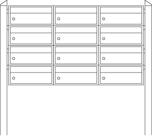 Briefkastenanlage Dual-Front 82106 Weiß