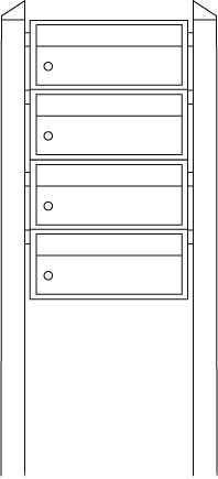 Briefkastenanlage Dual-Front 83102 Silber