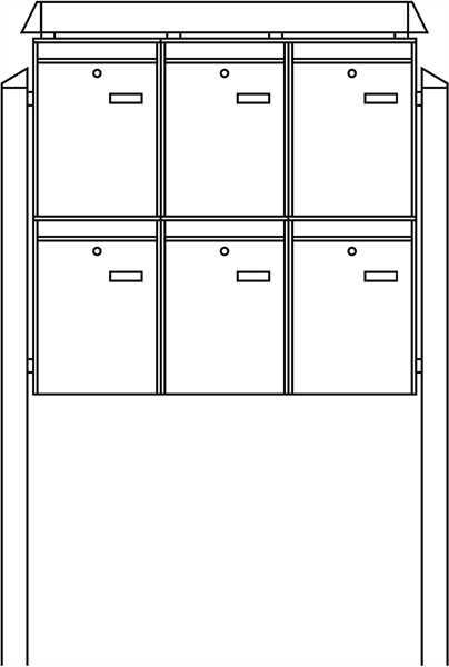 Briefkastenanlage Terzo-Set 86490 Weiß