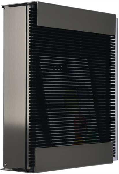 glasnost Briefkasten mit bedruckter Glasfront glass.black-stripes