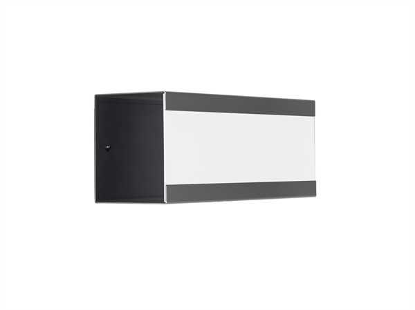 glasnost mit beschichteter Edelstahlfront newsbox.color.white