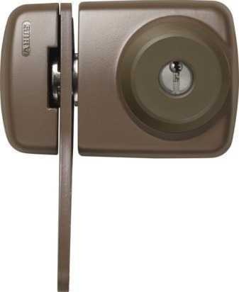 ABUS Türzusatzschloss 7535 EK mit Zylinder Braun