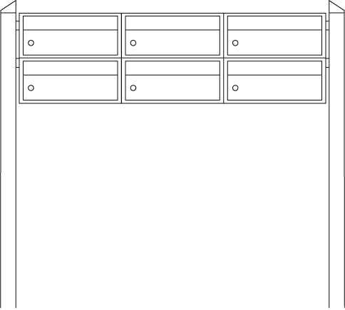 Briefkastenanlage Dual-Front 84103 Edelstahl-Anthrazit