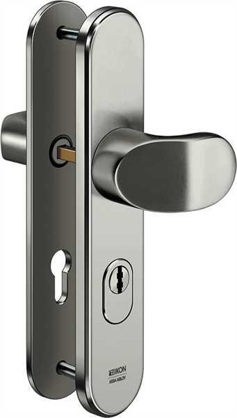 Stahl-Schutzbeschlag S408 Winkelknauf/Drücker