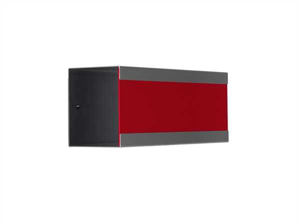 glasnost Zeitungsbox mit beschichteter Edelstahlfront newsbox.color.red