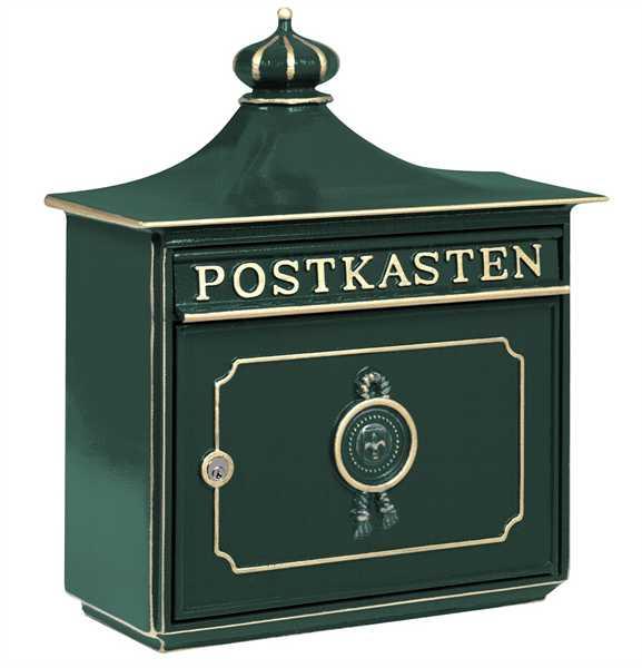 Briefkasten Bordeaux 1895 Grün
