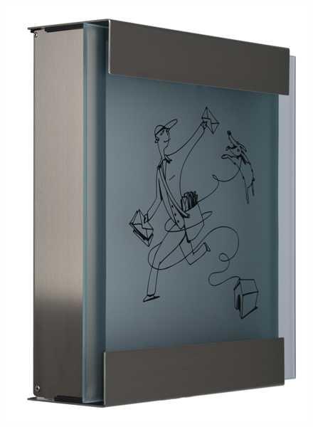 glasnost Briefkasten mit bedruckter Glasfront glass.michl-luz