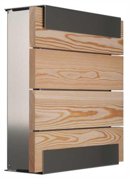 glasnost Briefkasten mit Holzfront wood.larch