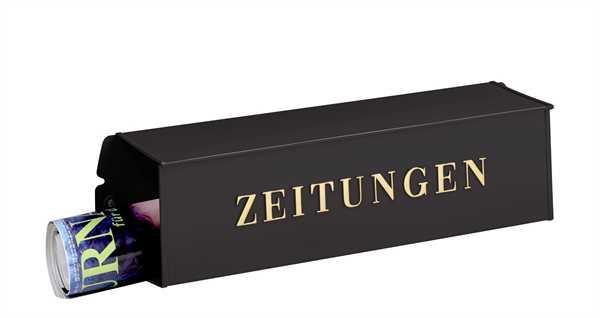 Zeitungsbox 808 Schwarz