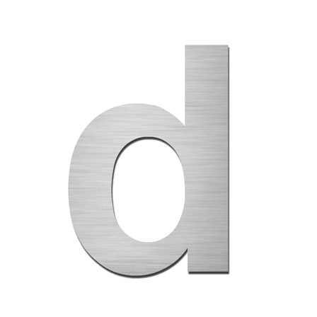 Hausnummer d Edelstahl V4A zum Einschlagen
