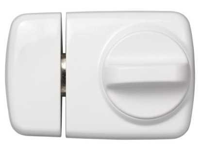 ABUS Türzusatzschloss 7510 EK mit Zylinder Weiß