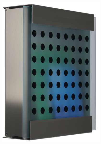 glasnost Briefkastenmit bedruckter Glasfront glass.black-dots