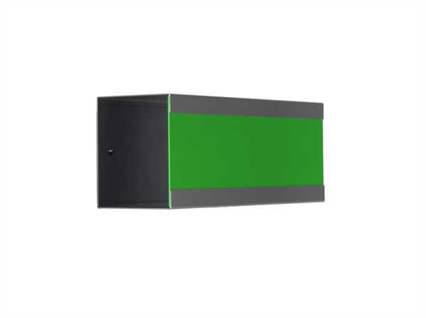 glasnost Zeitungsbox mit beschichteter Edelstahlfront newsbox.color.green