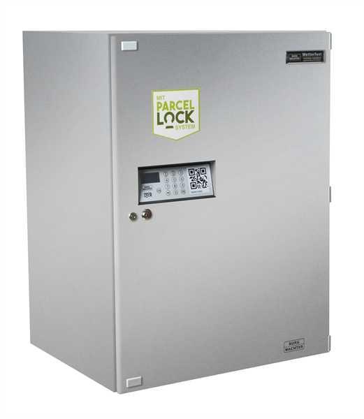 Paketkasten eBoxx GV 644 Parcellock Silber