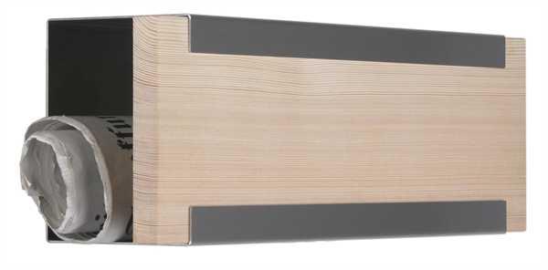 glasnost Zeitungsbox mit Holzfront newsbox.wood.larch