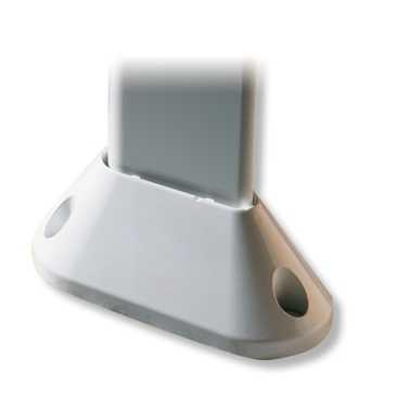 Montagefuß zu Terzo 160 eBoxx Silber