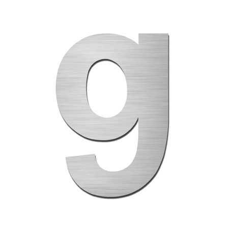 Hausnummer g Edelstahl V4A zum Einschlagen