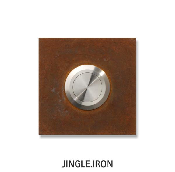 Klingelelement aus Cortenstahl jingle.iron