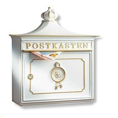 Briefkasten Bordeaux 1895 Weiß