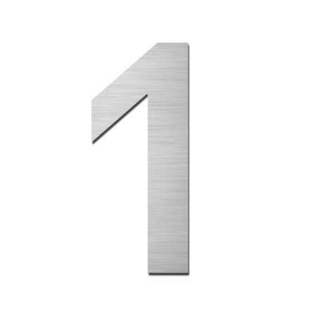 Hausnummer Klein 1 Edelstahl V4A selbstklebend