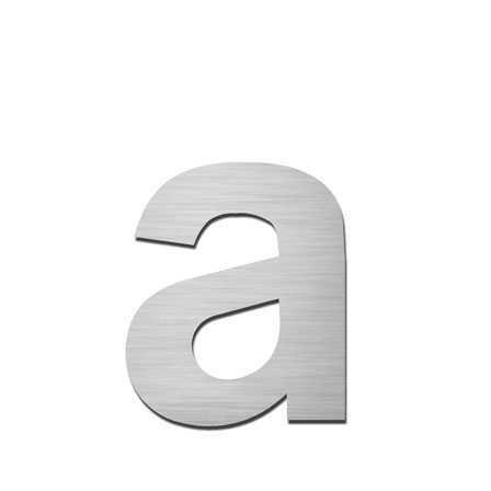 Hausnummer a Edelstahl V4A zum Einschlagen
