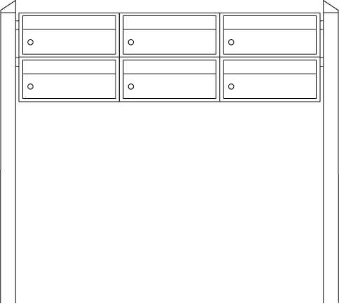 Briefkastenanlage Dual-Front 83103 Silber