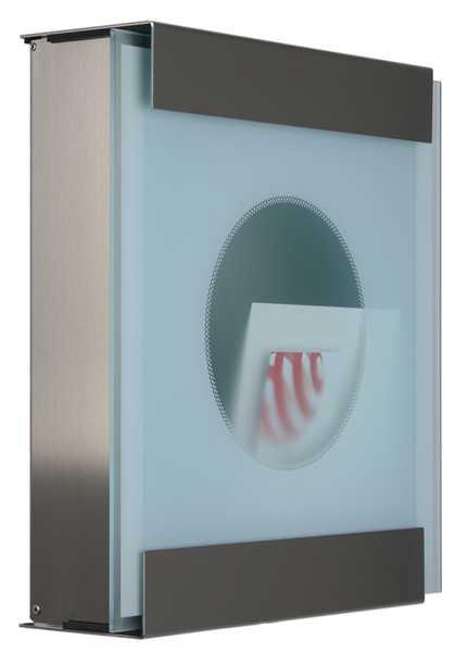 glasnost Briefkasten mit bedruckter Glasfront glass.one-dot