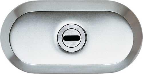 Schutzrosette Weiß mit Zylinderabdeckung 9M28 45127